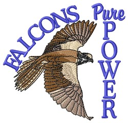 Falcons Power embroidery design