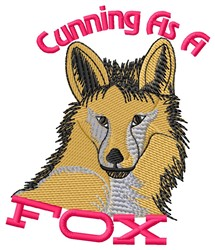 Cunning Fox embroidery design
