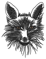 Fox Face embroidery design