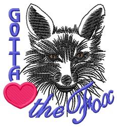 Gotta Love Fox embroidery design