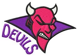 Devils embroidery design