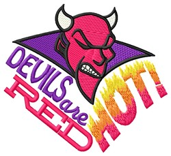 Red Hot Devils embroidery design