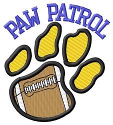 Cat Patrol Football embroidery design