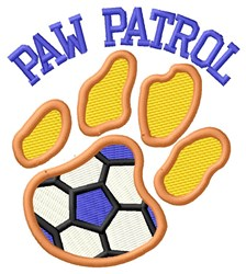 Cat Patrol Soccer embroidery design