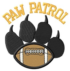 Dog Patrol Football embroidery design