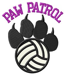 Dog Patrol Volleyball embroidery design
