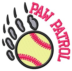 Bear Patrol Softball embroidery design