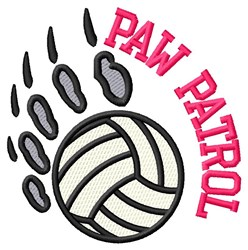 Bear Patrol Volleyball embroidery design