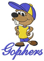 Gophers Mascot embroidery design