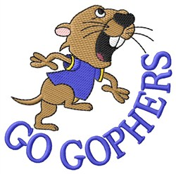 Go Gophers embroidery design