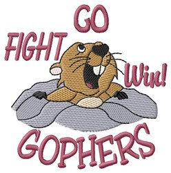 Go Fight Win Gophers embroidery design