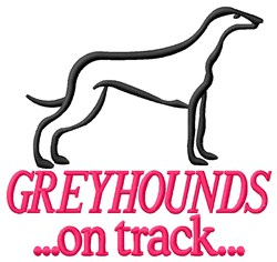 Greyhounds On Track embroidery design