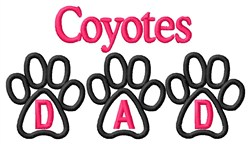 Coyotes Dad embroidery design