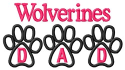 Wolverines Dad embroidery design