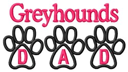 Greyhounds Dad embroidery design