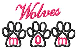 Wolves Mom embroidery design