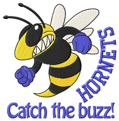 Catch The Buzz embroidery design