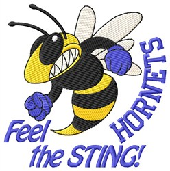Feel The Sting embroidery design