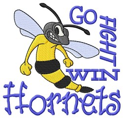 Go Fight Win Hornets embroidery design