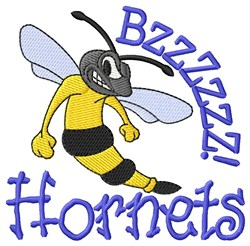 Bzzzz Hornets embroidery design