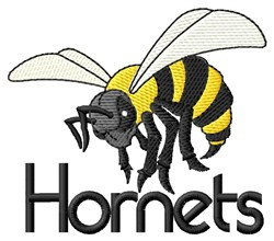 Hornets Mascot embroidery design