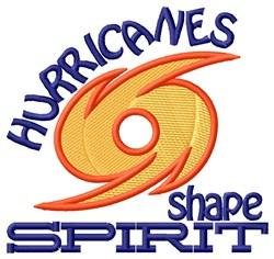 Hurricanes Shape Spirit embroidery design