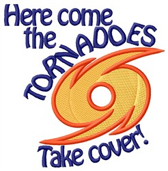 Here Come The Tornadoes embroidery design