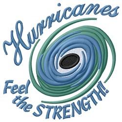 Hurricane Strength embroidery design