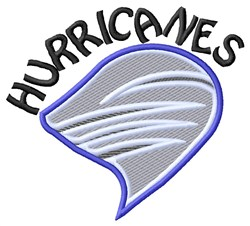Hurricanes Mascot embroidery design