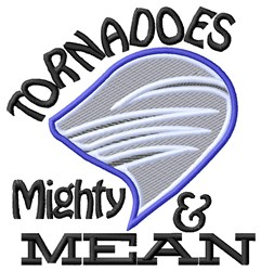 Tornades Mighty Mean embroidery design