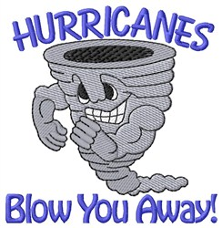 Hurricanes Blow Away embroidery design
