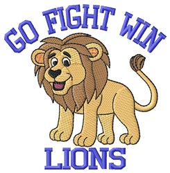 Go Fight Win embroidery design