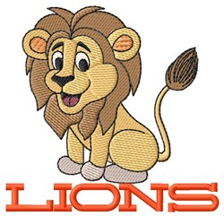 Lions embroidery design