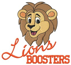 Lions Boosters embroidery design