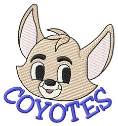 Coyotes embroidery design