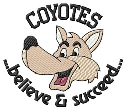 Believe & Succeed embroidery design