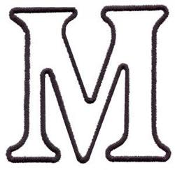Applique M embroidery design