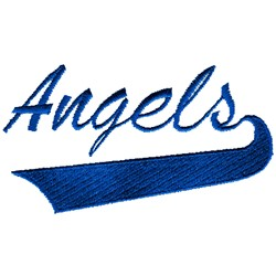 Angels Lettering embroidery design