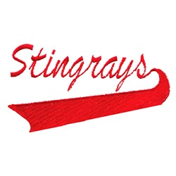 Stingrays Lettering embroidery design