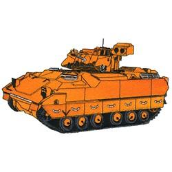 Bradley Tank embroidery design