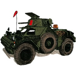 Ferret Armoured Car embroidery design