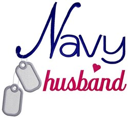 Navy Husband embroidery design