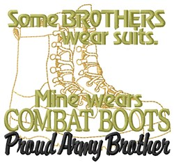Army Brother embroidery design