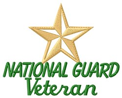 National Guard Vet embroidery design