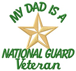 Dad National Guard Vet embroidery design