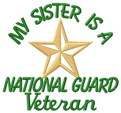 Sister National Guard Vet embroidery design