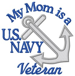 Mom Navy Vet embroidery design