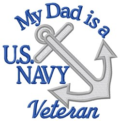 Dad Navy Vet embroidery design