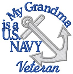 Grandma Navy Vet embroidery design