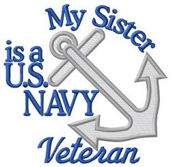 Sister Navy Vet embroidery design